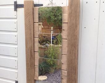 Wooden Driftwood Mirror