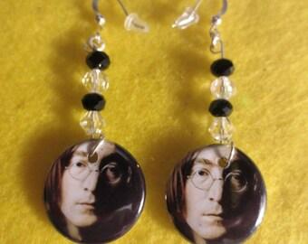 John Lennon dangle earrings