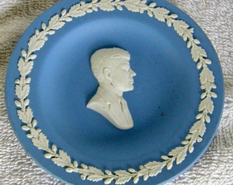Wedgwood Blue Jasperware JFK Pin Dish