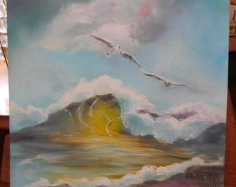 Handpainted Picture of the Sea