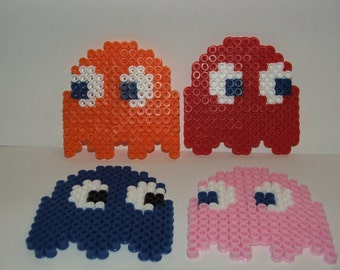 Perler Pac-Man Ghosts
