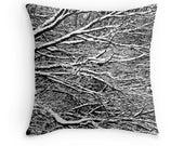 Snow Toss Pillow, Winter Throw Pillow, Snow Photo, Winter Pillow Cover, Snow Pillow Case, Winter Bedding, Snow Pillow Cover, Winter Decor