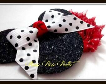 Minnie Mouse Hair Bow, Minnie Mouse Hair Clip, Minnie Mouse Hair Accessory, Minnie Mouse Headband, Minnie Mouse Accessory, Minnie Mouse Hair