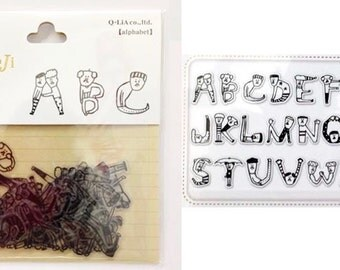 "Moji Moji Die Cut Stickers ""Japanese Weirdness Alphabet"" for scrapbooking, decorating, Paper crafts. 78pieces"