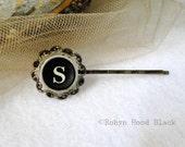 Typewriter Key Bobby Pin Vintage Letter S