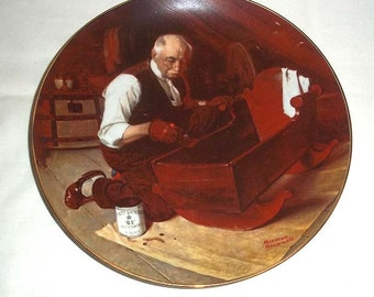 Knowles Norman Rockwell Collectors' Plate Grandpa's Gift/ First in Rockwell's Golden Moments Series / Numbered