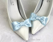 Blue Shoe Bows, Blue Bow Shoe Clips, Something Blue Wedding Accessories Shoes Clip, Blue Bow Clip Shoes