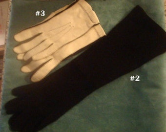 Vintage 1950 leather gloves (2) styles