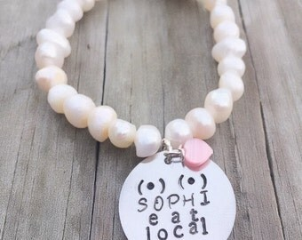 Breastfeeding bracelet, Breastfeeding jewelry, Mom personalized bracelet, custom made bracelet,