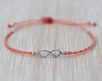 Macrame Bracelet - Infinity bracelet - 925 Silver bracelet - Micromacrame bracelet - Boho jewelry - Bohemian jewelry - Hipster bracelet