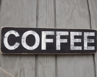 Pallet Wood Coffee Sign Reclaimed Wood Sign Painted Sign