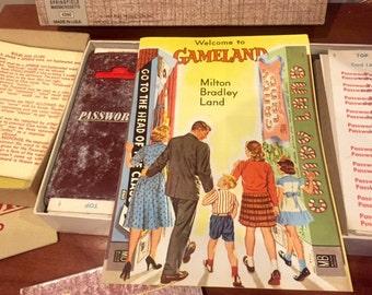 Vintage Password Board Game 1962 USA Milton Bradley