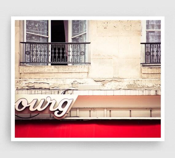 Paris, Facade  - Paris photo,Fine art photography,Paris trends,Paris home decor,8x10 wall art,Red