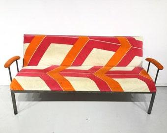 Fabulous Industrial Steel Reclining Sofa