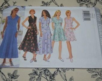 Butterick 4499 Misses/ Misses Petite Dress Sewing Pattern - UNCUT - Sizes 6 8 10