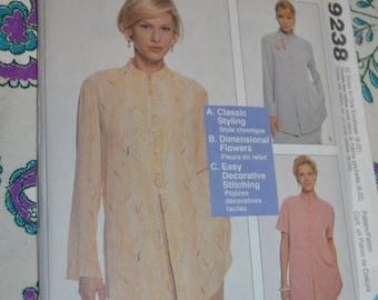 McCalls 9238 Nancy Zieman Misses Top Sewing Pattern - UNCUT - Sizes  S M L XL