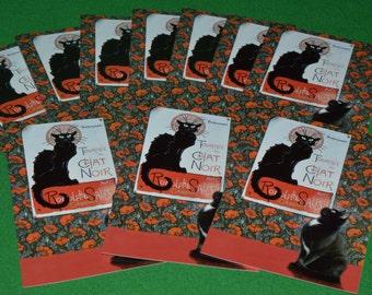 Vintage Tournee Chat Noir Post Card Black Cat Lesley Anne Ivory 1995