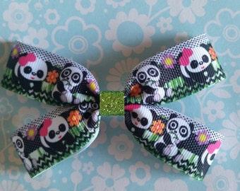 Precious Pandas hair bow