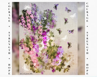 Greeting Cards for Breast Cancer Patients & Survivors, Floral Watercolor Painting, Cancer Support, digital art, iPad Paintings, iPad Art