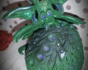 Draegans Dragons ooak clay art sculpture