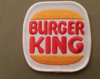 burger king embroidered patch