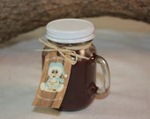 Hot Cocoa Mug Cup Candle Highly Scented in Hot Chocolate 4 ounce Candle