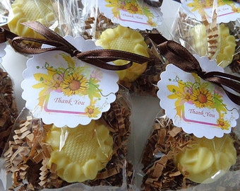 10 Sunflower Favors, Party Soap Favors, Special Occasions, Birthdays, Holidays