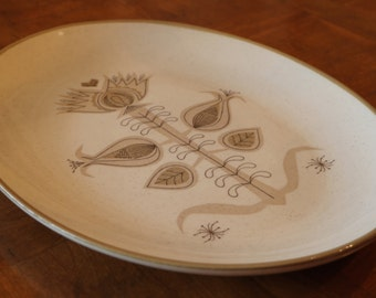 "Vintage Franciscan Earthenware ""Spice"" Pattern Oval Serving Platter"