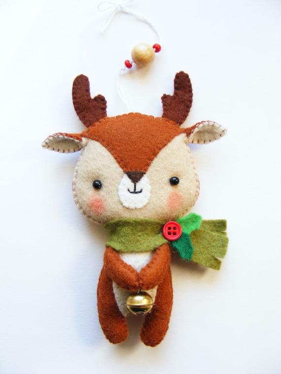 Pdf Pattern Cute Little Reindeer Felt Christmas Tree