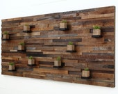 """Wood wall art, with floating wood shelves 84""""x40""""x5"""" made of reclaimed barnwood, large art, wall art"""