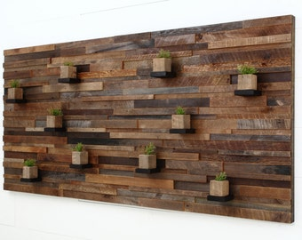 "Wood wall art, with floating wood shelves 84""x40""x5"" made of reclaimed barnwood, Large art, wood wall sculpture"