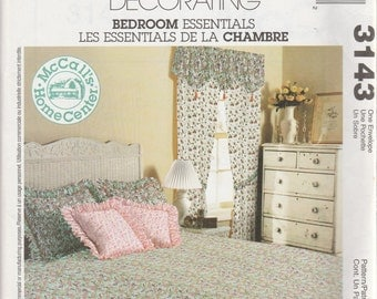 McCall's 3143 Home Decorating Bedroom Essentials Sewing Pattern 2001 Uncut