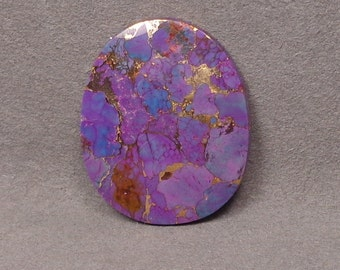 Mohave PURPLE TURQUOISE With BRONZE Cabochon