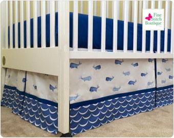 whale crib bedding | etsy