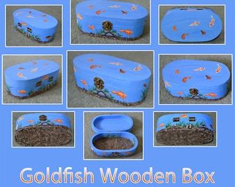 Goldfish Pond / Tank Wooden Trinket Box