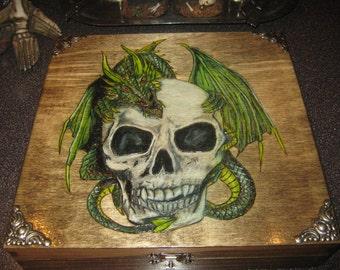 Skull and Dragon Cigar Box