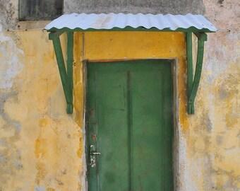 Green Door. | Architecture Holy City Old City, Jerusalem. Fine Art Photography 8x10