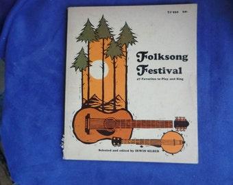 Folk Songs Sheet Music Books Lot of 2