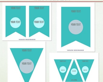 MEGA SALE Party Bunting & Flag Template - Layered Photoshop and Elements  PSD template - Personal Commercial - G2232