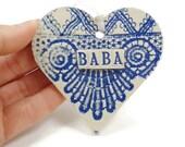 Baba Heart Ornament, Grandmother Ornament, Christmas Tree Ornament, Baba Birthday, I love Baba, Grandparent Gift, Serbian Grandmother
