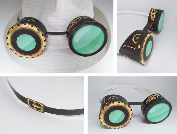 SteamPunk Goggles, gear hat decor, party template - high ...