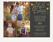 Fall Mini Sessions Template - Photography Marketing Board - Fall Minis - Photoshop Template 018 - ID261, Instant Download