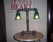 Industrial  Steampunk desk table lamp
