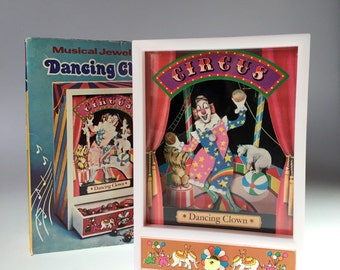 Dancing Circus Clown Music Box Trinket Box