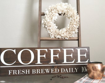 Coffee wood sign - cafe sign - kitchen decor - Coffee inspired sign - Coffee Lover gift
