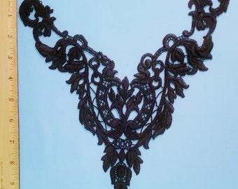 Venise lace black yoke