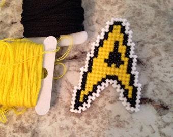 Star Trek Cross Stitched Pin