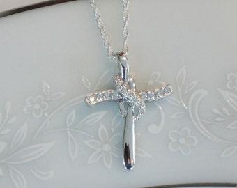 Infinity Cross Necklace Etsy