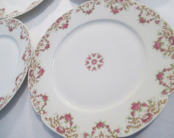 Vintage Limoges France Luncheon Plates - Set of 4