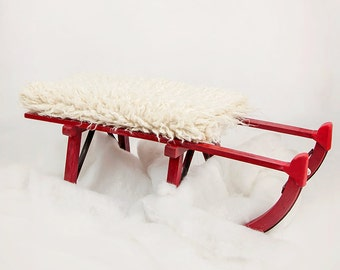 Digital Backdrop, red sledge for Christmas shoots